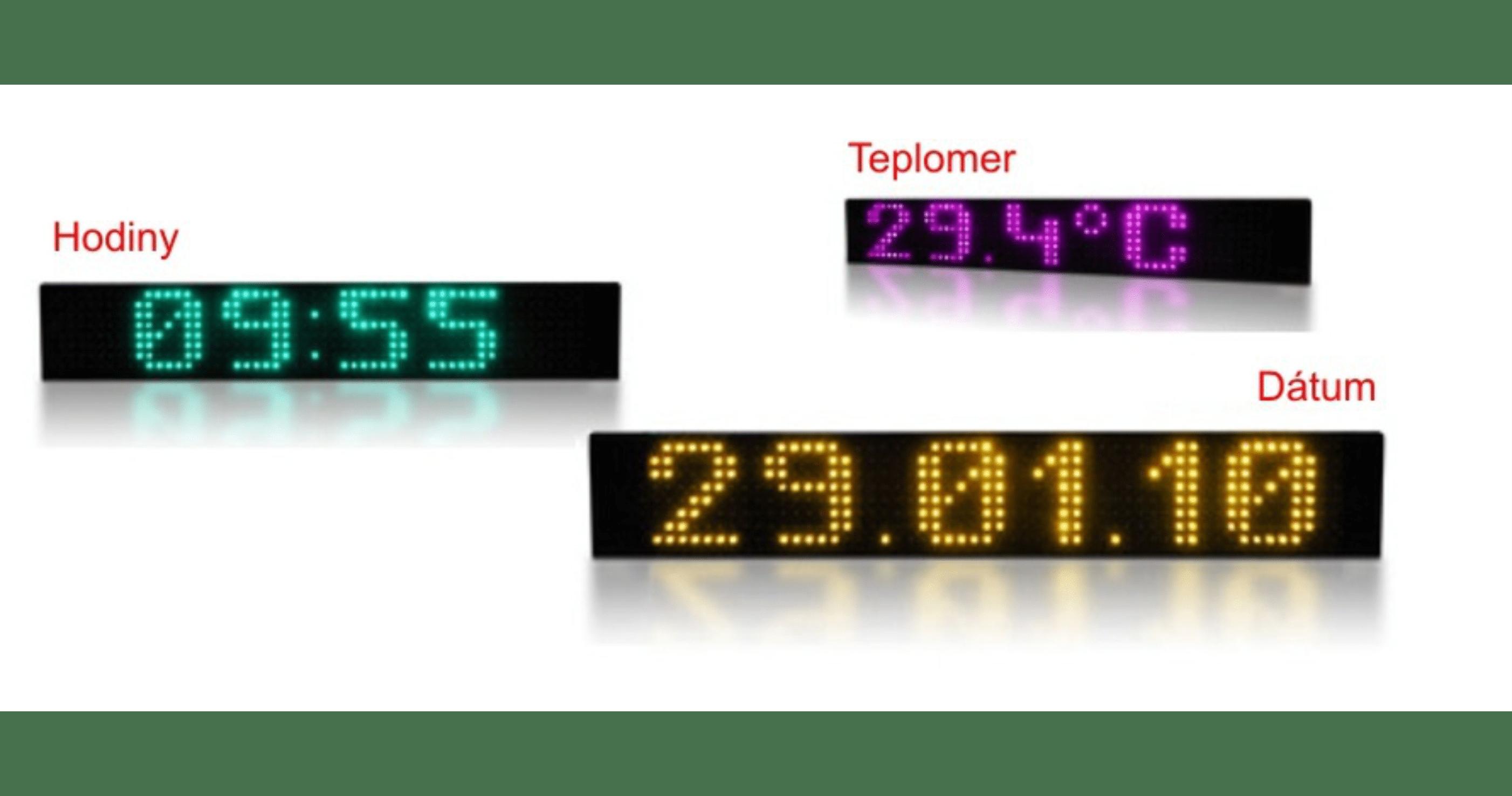 Čas | datum | teplota